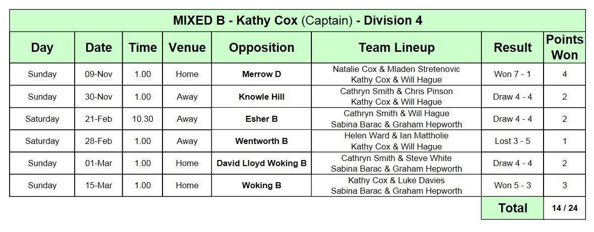 League MixedB9